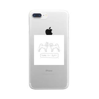 うぇるかむ とぅー じゃぱん Clear smartphone cases