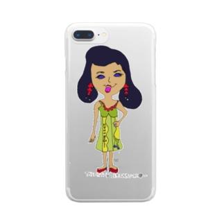 オシャレ大好きたま子 Clear smartphone cases