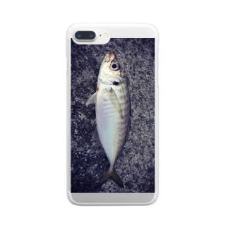 釣りたてアジ スマホケース Clear smartphone cases