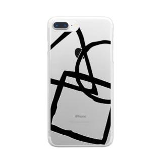 シンプル(黒) Clear smartphone cases