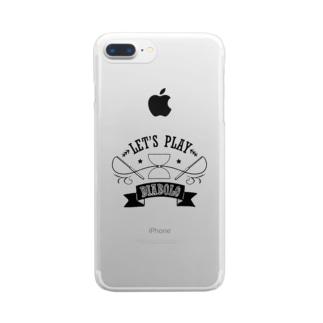 チョークアート風ディアボロ 色抜 Clear smartphone cases