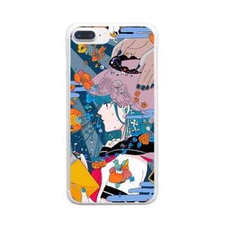 ひろがる世界 Clear smartphone cases