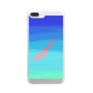 泳ぐ魚 Clear smartphone cases
