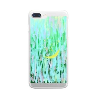 泣く月 Clear smartphone cases