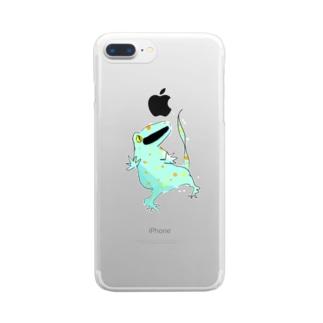 ゆるトッケイ Clear smartphone cases