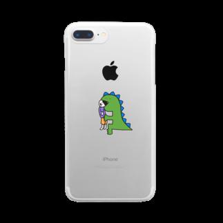 つっこみ処のかいじゅうちゃん Clear smartphone cases