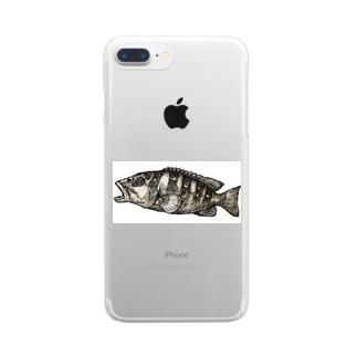 魚、アカハタ。 Clear smartphone cases