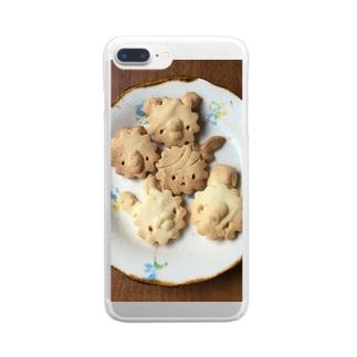 シェイモオリジナル顔クッキー4 Clear smartphone cases