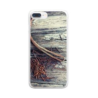 釘たち。 Clear smartphone cases