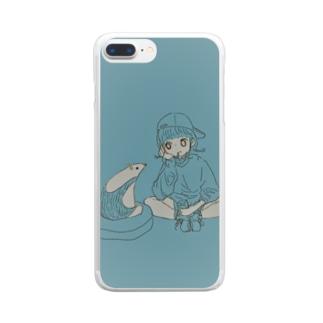 ミナミコアリクイとわたし Clear smartphone cases