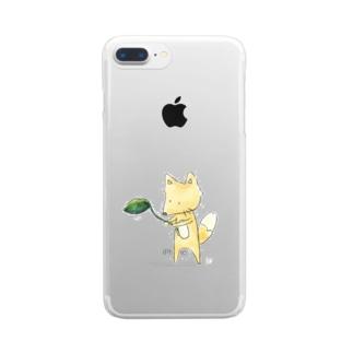 だ、のキツネ Clear smartphone cases