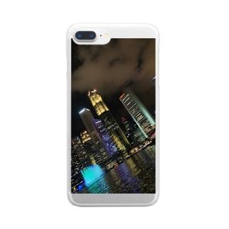 シンガポールの夜のケース Clear smartphone cases