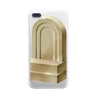 石碑 Clear smartphone cases