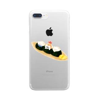 おにぎりねこ Clear smartphone cases