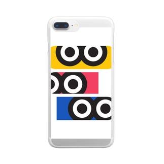 ギョロ目3 Clear smartphone cases