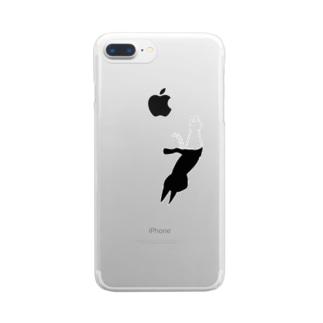ねことかげ Clear smartphone cases