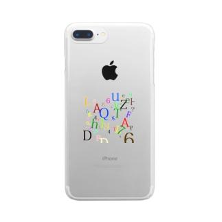 アルファベットと数字の洪水2 Clear smartphone cases