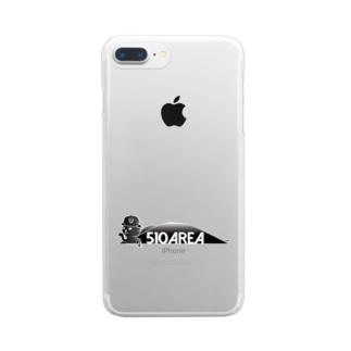 つばきねこ510AREA Clear smartphone cases