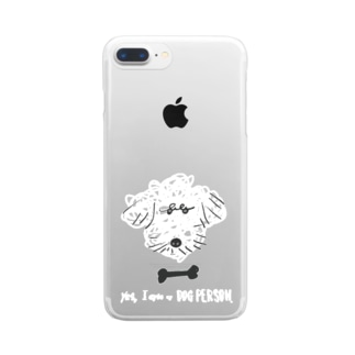 yes, I am a DOG PERSON. / ver.3 Clear smartphone cases