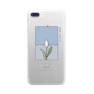 tulips Clear smartphone cases