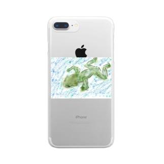 カエルのミカエル Clear smartphone cases