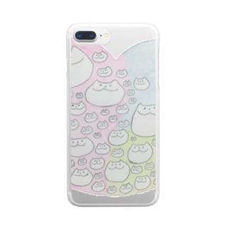 まんぞくそうな犬 Clear smartphone cases