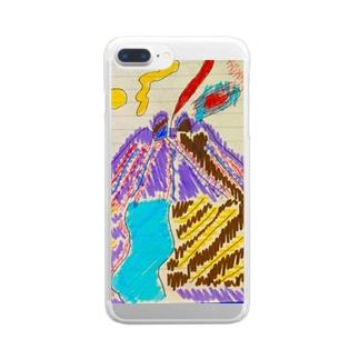 お絵かき Clear smartphone cases