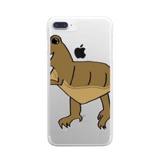 恐竜シリーズ~t.rex~ Clear smartphone cases