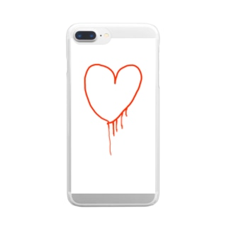 my heart Clear smartphone cases