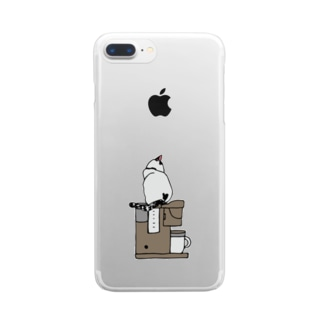 はちとコーヒーメーカー Clear smartphone cases