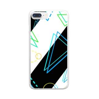 さんかくまるさんかく Clear smartphone cases