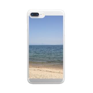 みずうみの記録 Clear smartphone cases