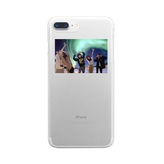 わーーー!オーロラだーー!ケース Clear smartphone cases