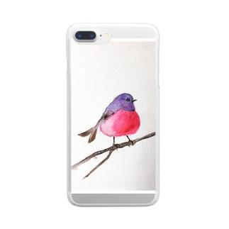 ピンクロビンちゃん Clear smartphone cases