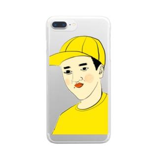 YUBESHIのつうこうにん Clear smartphone cases