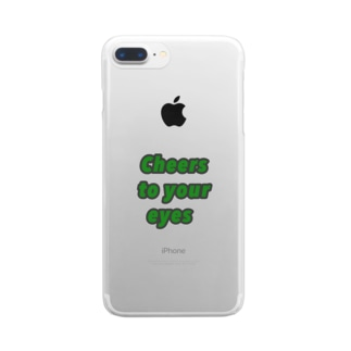 """Cheers to your eyes""ろんてぃ Clear smartphone cases"