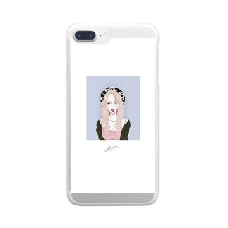 ガールフレンド Clear smartphone cases