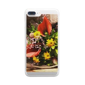オメデトウの集合体 Clear smartphone cases