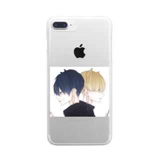 大和と耕四郎 Clear smartphone cases