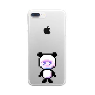 p a n d a ¿ 濃い方 Clear smartphone cases