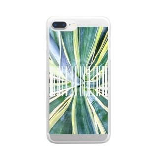 グリーン1 Clear smartphone cases
