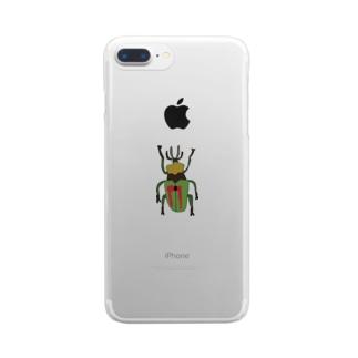 ニジイロクワガタ Clear smartphone cases