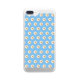 犬のしっぽ Clear smartphone cases