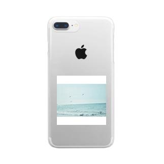 海カラス Clear smartphone cases