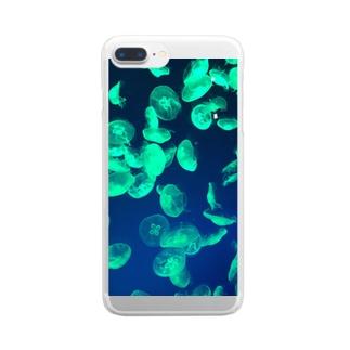 くらげのかがやき Clear smartphone cases