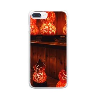ひょうたんランプ Clear smartphone cases