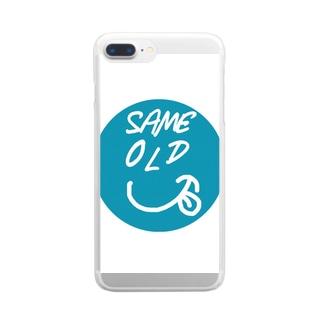 セイムオールドくん Clear smartphone cases