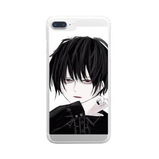 男の子 Clear smartphone cases