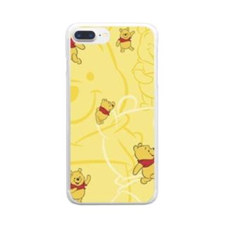 プーさんゾロゾロ Clear smartphone cases