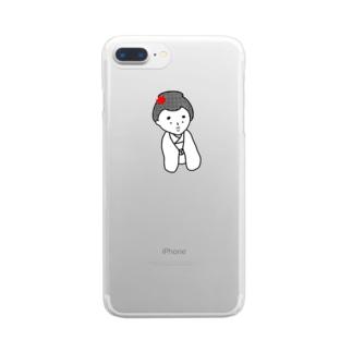 はんなりがーる。 Clear smartphone cases